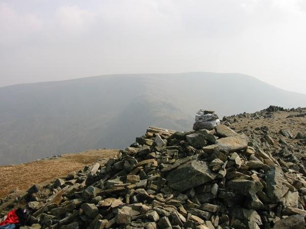 Harter Fell from Mardale Ill Bell summit cairn