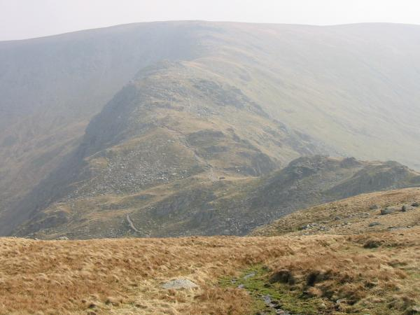 Nan Bield Pass and the ridge onto Harter Fell