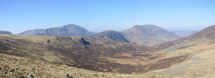 Dubs Bottom, Pillar, Haystacks, High Crag and High Stile from Fleetwith