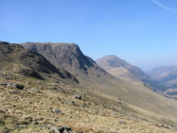 Kirk Fell and Pillar from Moses' Trod under Gable Crag
