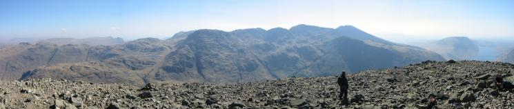 Southeasterly panorama from Great Gable summit