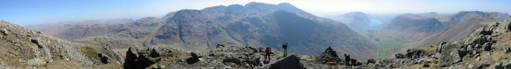 Panorama from the Westmorland Cairn, Great Gable