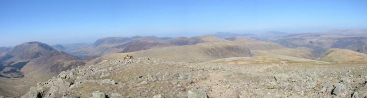 Northerly panorama from Green Gable summit