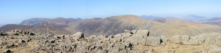 The northwestern fells from Grey Knotts