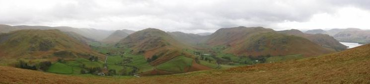 Southerly panorama from Hallin Fell