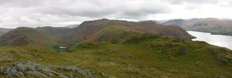 Beda Fell, Boredale, Place Fell and Ullswater from Hallin Fell