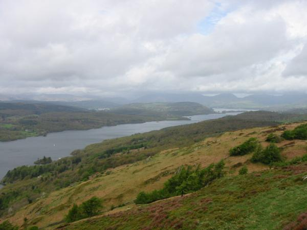 Looking northwards up Windermere from Gummer's How