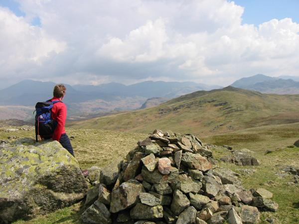 The high fells from Water Crag summit