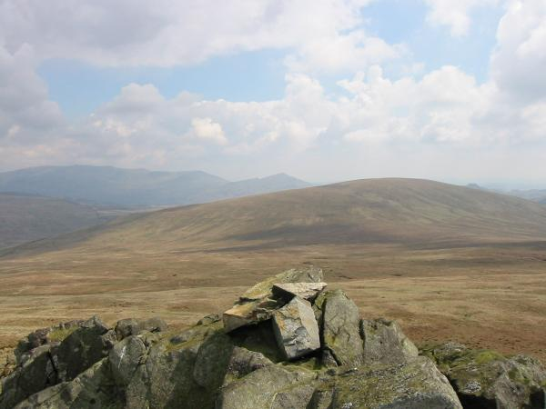 Hesk Fell with Caw behind (centre) from Yoadcastle summit