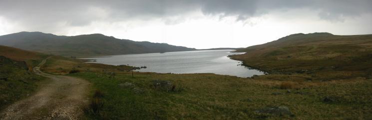 Devoke Water under a dark sky