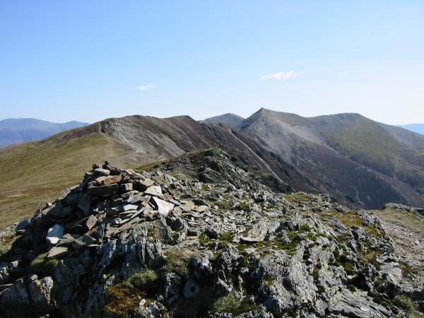 The ridge to Hopegill Head from Whiteside summit
