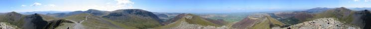 360 Panorama from Hopegill Head summit