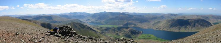 Panorama from Grasmoor summit