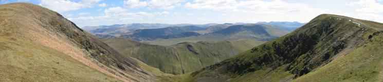 Eel Crag (Crag Hill) to Wandope panorama from above Addacomb Hole