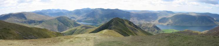 Panorama from Thirdgill Head Man