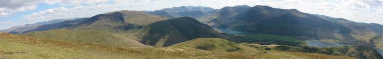 Panorama from Whiteless Pike summit