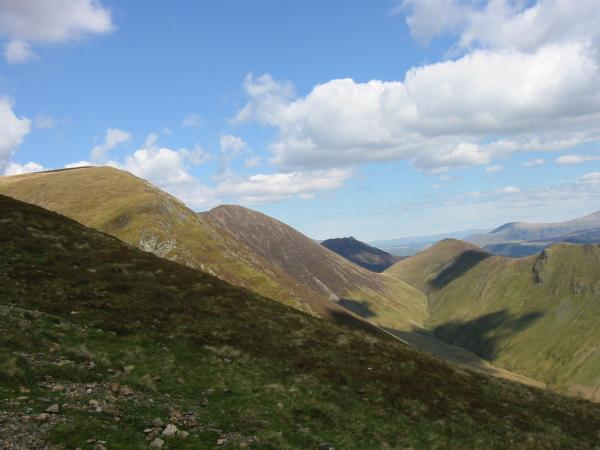 Causey Pike seen through the gap between Sail and Ard Crags from Whiteless Pike