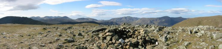 Southerly panorama from Hindscarth summit