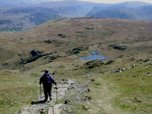 The long descent down to Dalehead Tarn