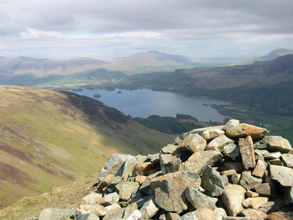 Derwent Water and Keswick from Blea Crag cairn