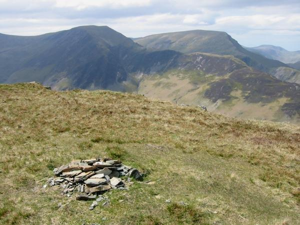 Hindscarth and Robinson from Maiden Moor summit