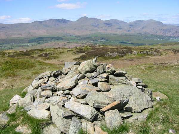 The Coniston Fells from Top O' Selside summit
