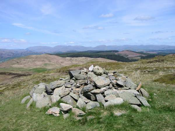 Helvellyn, Fairfield and Red Screes from Top O' Selside summit