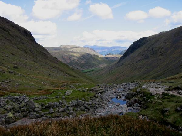 Looking north from near the top of Grains Gill