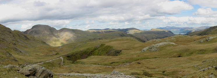 Northerly panorama from the climb up to Esk Hause