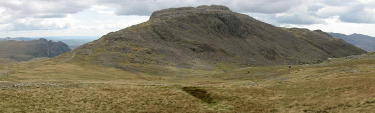 The Langdale Pikes and Esk Pike from Esk Hause