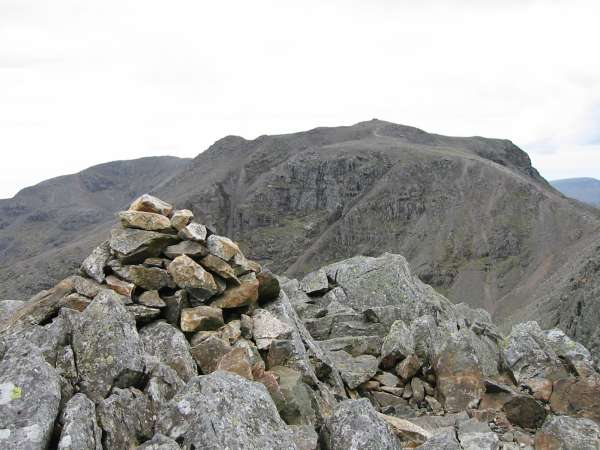 Scafell Pike from Ill Crag summit