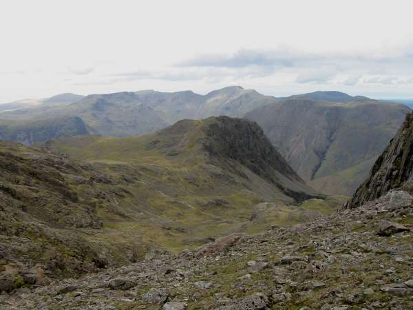 Lingmell with Pillar behind from Broad Crag Col