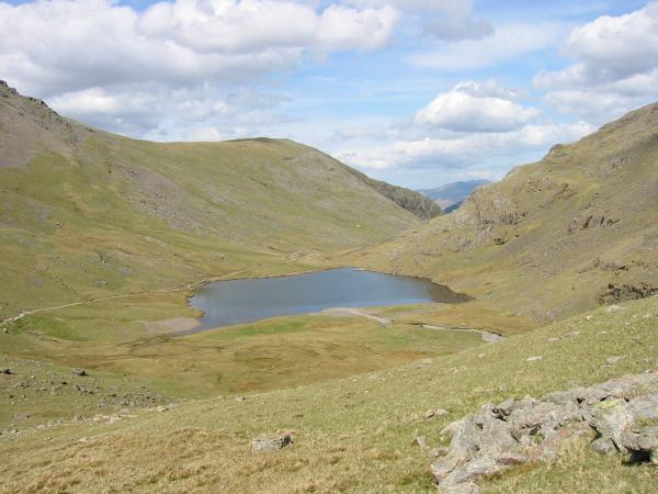 Styhead Tarn from the end of the Corridor Route