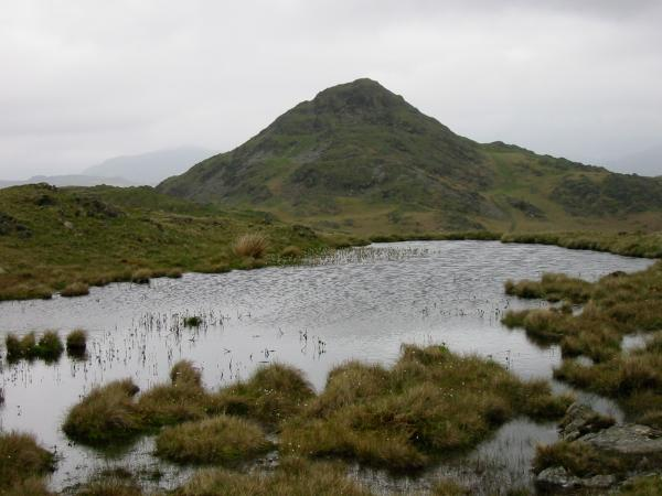 Stickle Pike from one of the many tarns on Tarn Hill