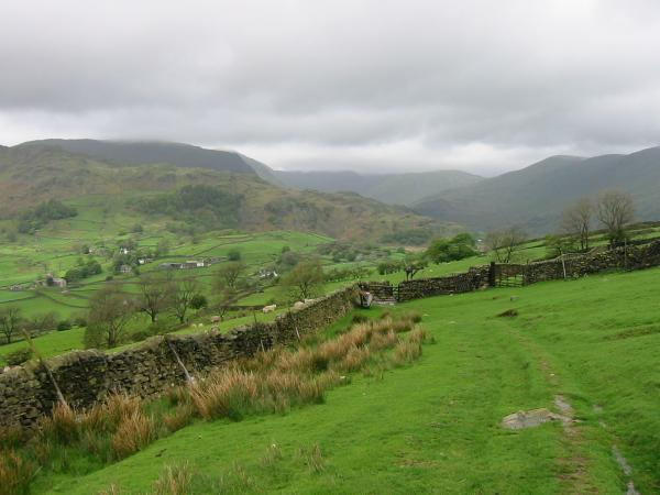 Looking back (northwards) towards Kentmere from the bridleway