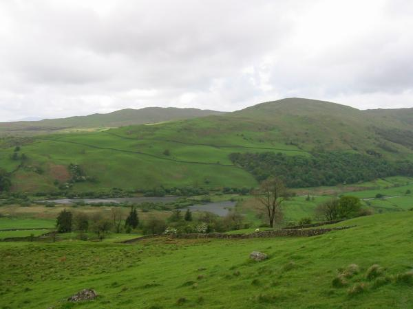 Sour Howes, Sallows and Kentmere Tarn from the bridleway to Skeggles Water