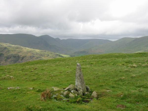 The Kentmere Horseshoe from Hollow Moor summit, the highest point on Green Quarter Fell