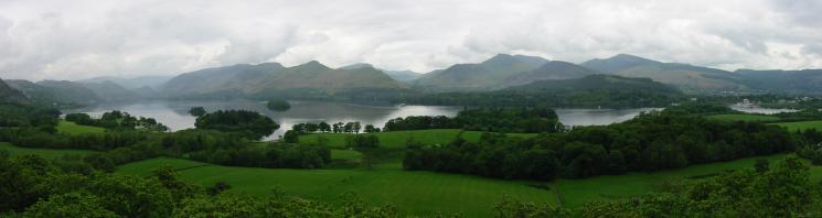 The north western fells from Castle Head