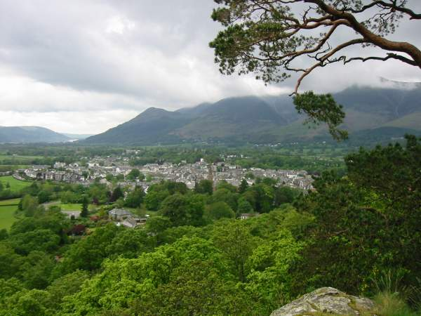 Keswick and Dodd from Castle Head