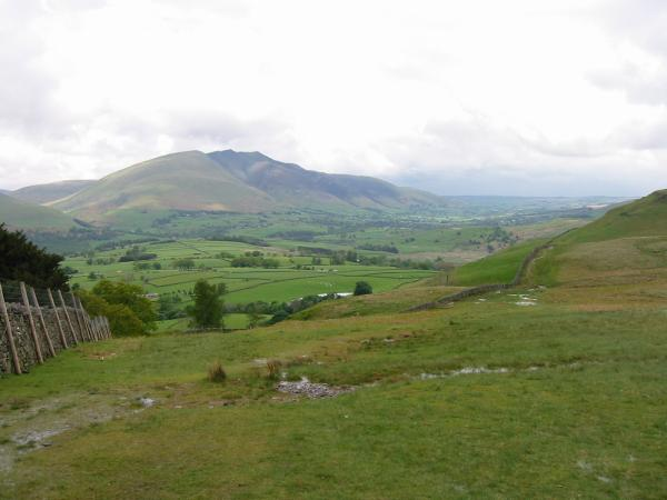Blencathra from the path up Walla Crag from Rakefoot