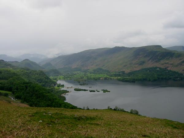Grange and Derwent Water from above Falcon Crag