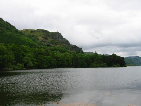 Falcon Crag from Calfclose Bay, Derwent Water