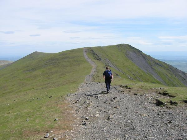 Heading to Hallsfell Top (Blencathra's summit) from Gatesgill Fell Top