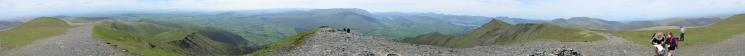 360 Panorama from Hallsfell Top, Blencathra's summit