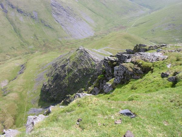 Looking down onto Sharp Edge