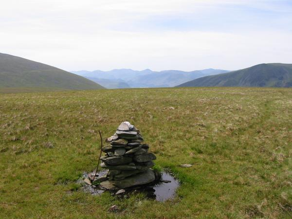 The northwest fells from Mungrisdale Common summit cairn