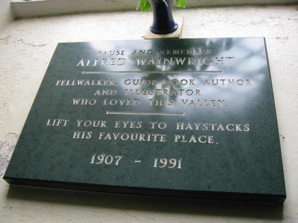 Wainwright memorial, St James Church, Buttermere