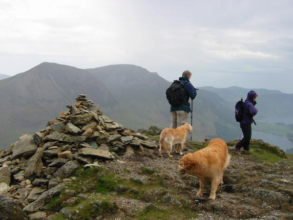 Fleetwith Pike summit and the High Stile ridge