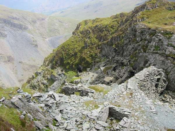 Old mine workings, Honister Crag
