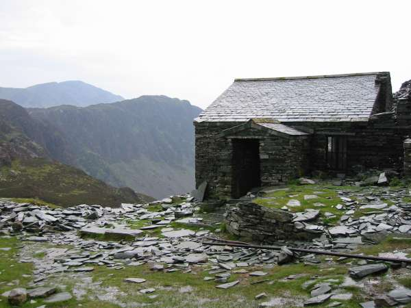 Haystacks with Pillar behind from Dubs Hut (Bothy)